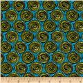 Urban Oasis Spiral Dot Teal/Lime