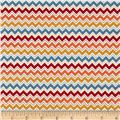 Riley Blake Hooty Hoot Returns Hoot Chevron Orange