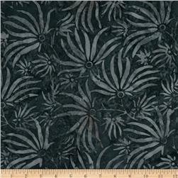 "106"" Wide Batavian Batiks Quilt Backing Ylang Ylang Charcoal"