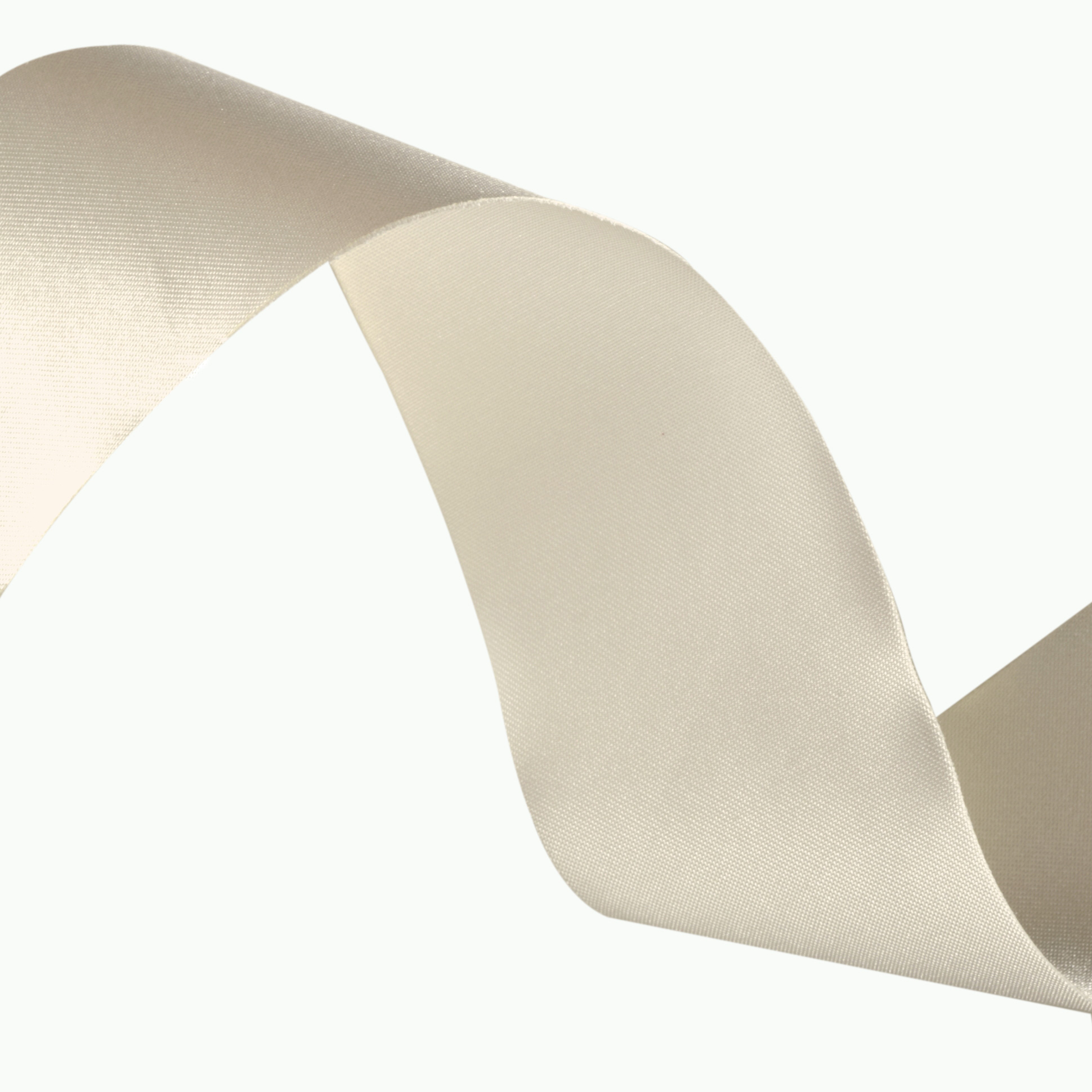 1 1/2'' Iridescent Satin Ribbon Ivory
