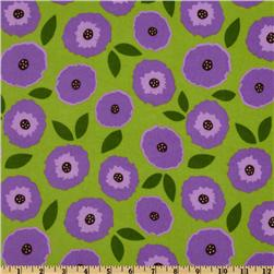 Madeline Flannel Floral Nature Lime