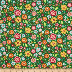 Riley Blake My Sunshine Large Floral Green