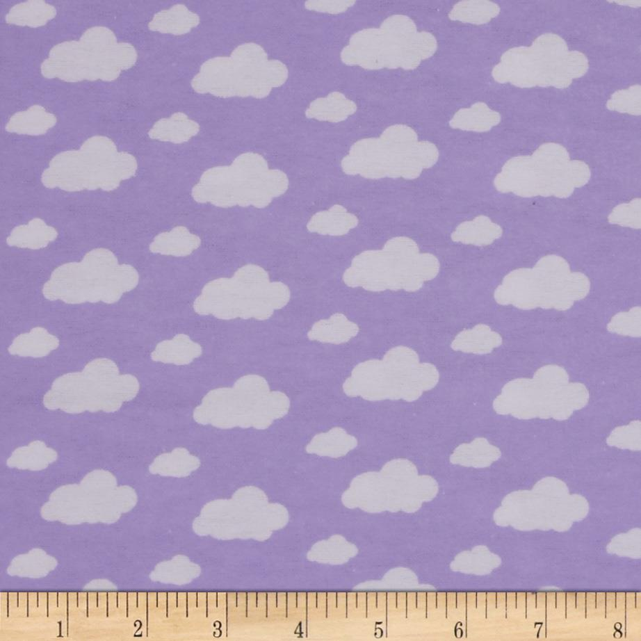 Dreamland Flannel Dream Clouds Lavender Lily