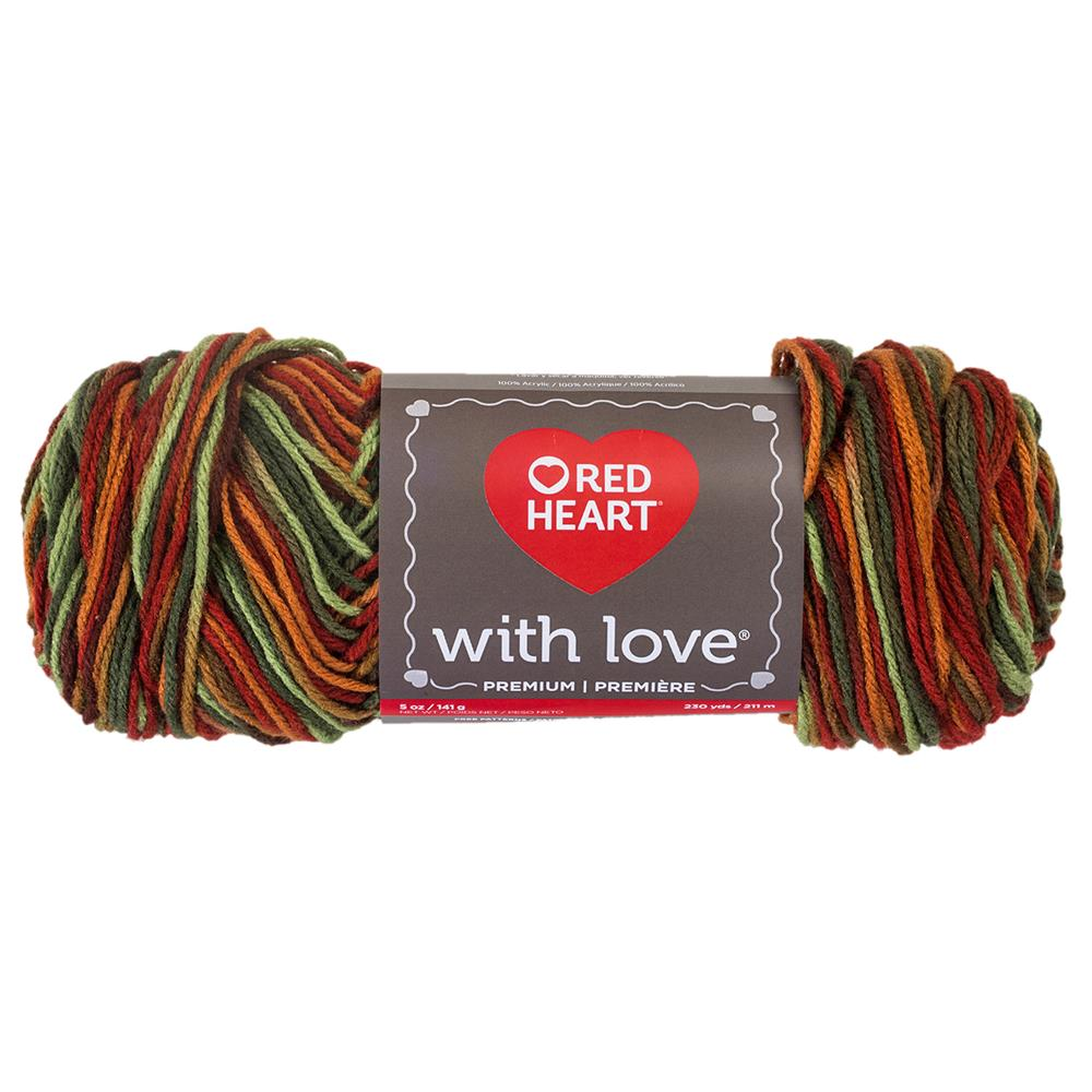 Red Heart Yarn With Love Variegated 1934 Autumn