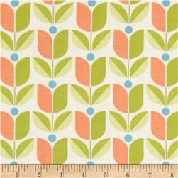 Joel Dewberry Flora Tulip Carrot Fabric