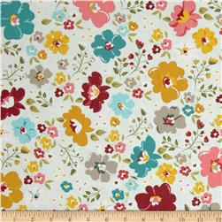 Riley Blake Unforgettable Large Floral Blue