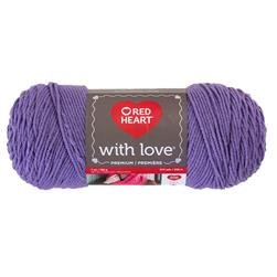 Red Heart With Love 1538 Lilac