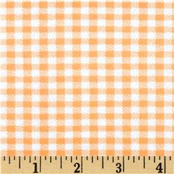 Aunt Polly's Flannel Gingham Peach/White