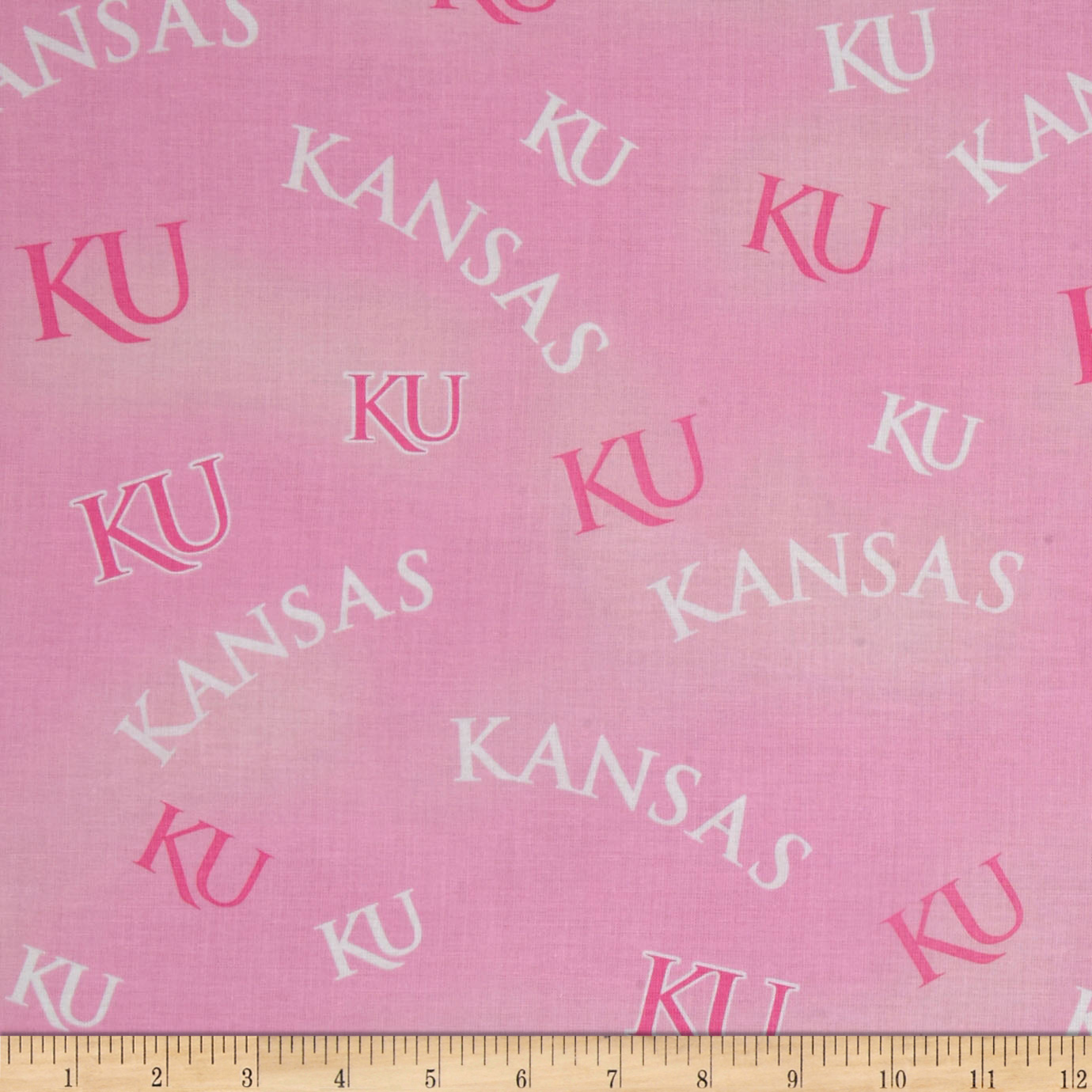 Collegiate Cotton Broadcloth Kansas Pink Fabric