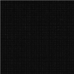 Fleece Backed Tablecloth Black Fabric