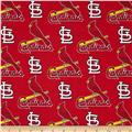 MLB Cotton Broadcloth St. Louis Cardinals Red/Yellow