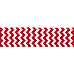 Riley Blake 7/8'' Grosgrain Ribbon Chevron Red