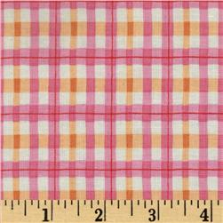House and Home Plaid Pastel Pink