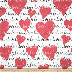 Michael Miller Love Heart Red