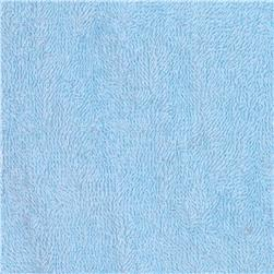 Terry Cloth Cuddle Baby Blue Fabric