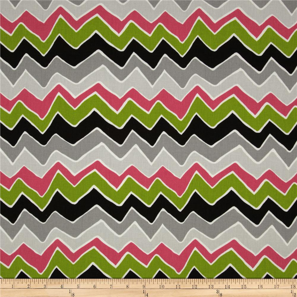 Premier Prints See Saw Candy Pink/Chartreuse