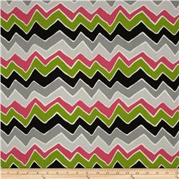 Premier Prints See Saw Candy Pink/Chartreuse Fabric