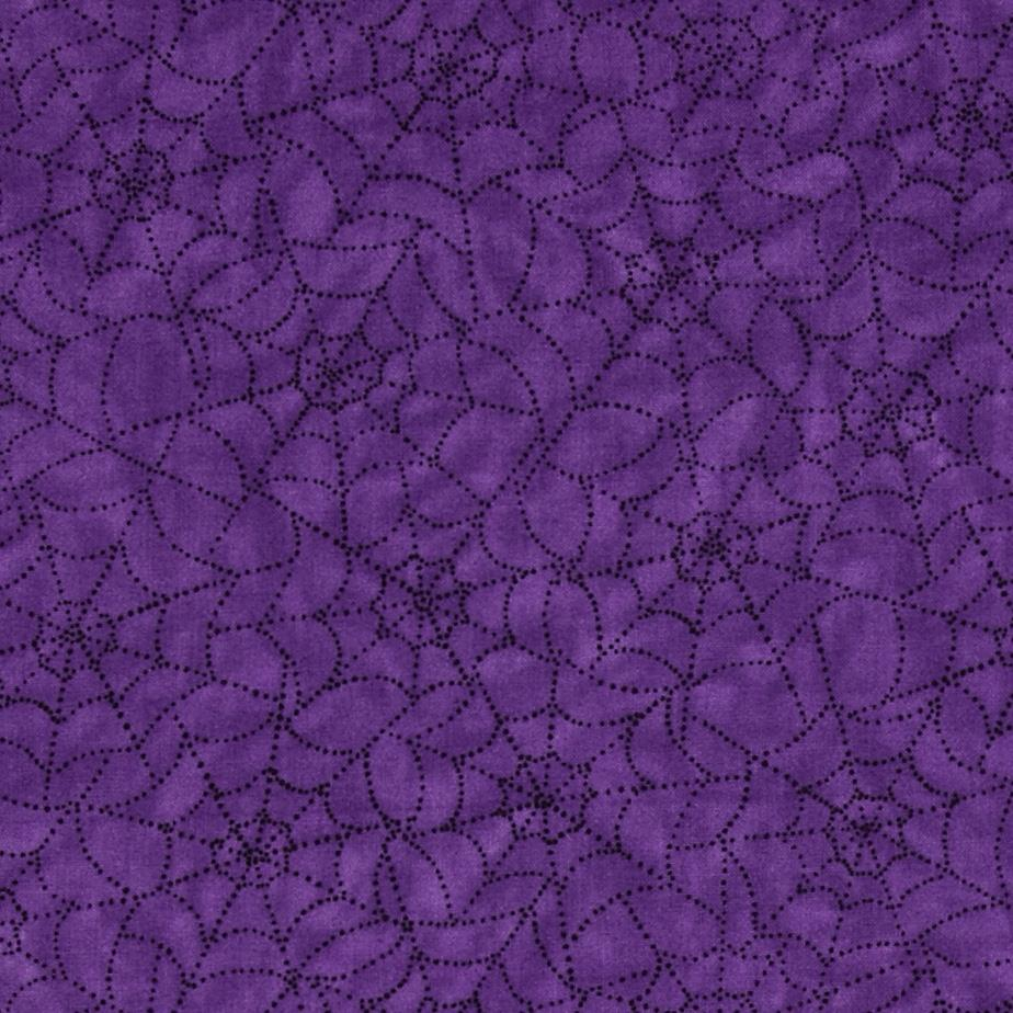 Moda Pumpkin Party Cobwebs Potion Purple
