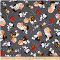 Peanuts Good Friends Charlie Brown & Snoopy Toss Grey