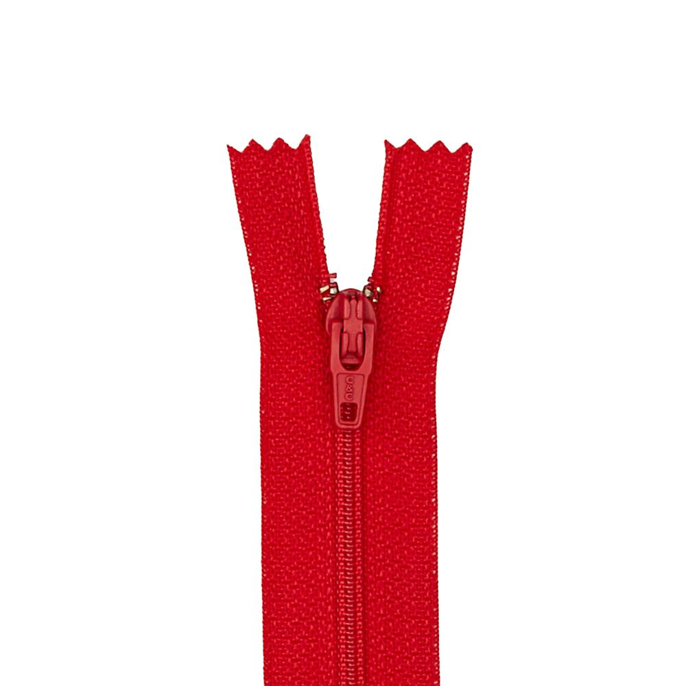 "Coats & Clark Poly All Purpose Zipper 24"" Red"