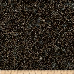 Lumina Metallic Dainty Swirls Black