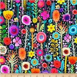 Printemps Digital Abstract Floral Stems Multi
