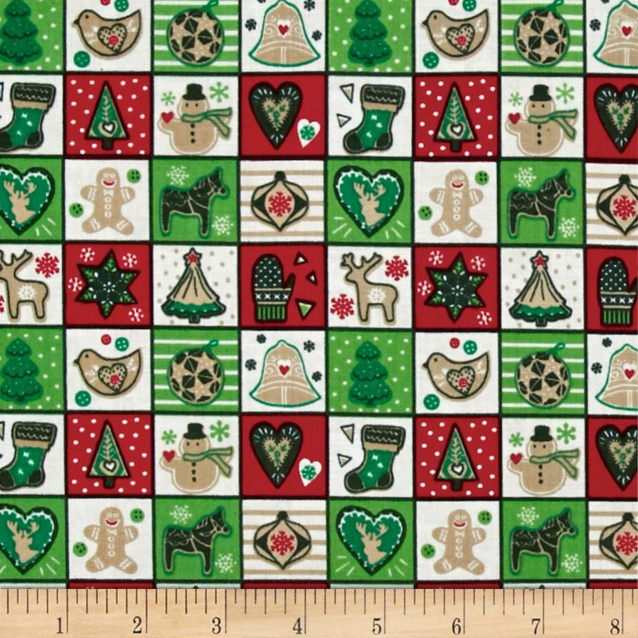 Seasons Greetings Squares Multi