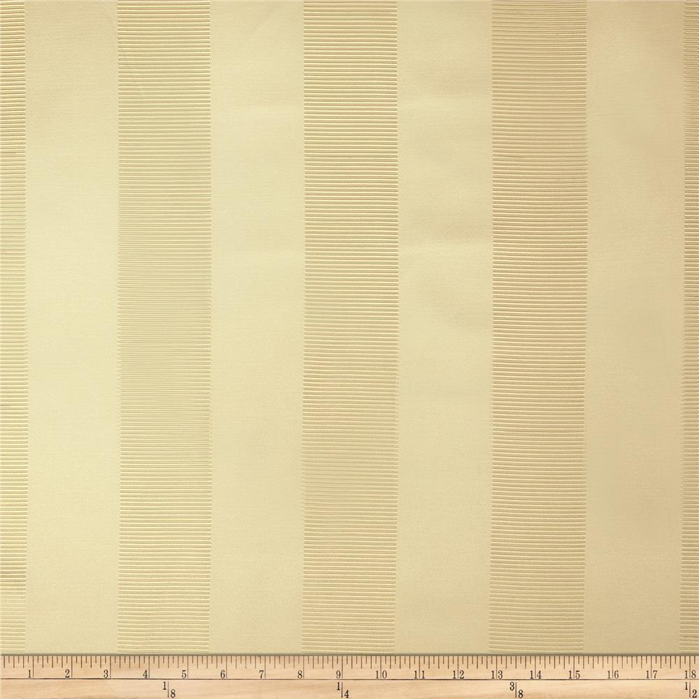 Duralee Wesley Ribbed Stripe Satin Jacquard Sand Fabric By The Yard