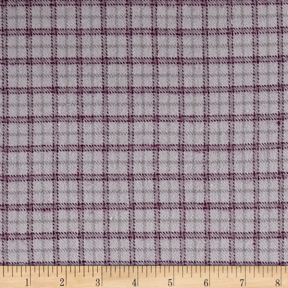 Marcus Primo Plaids Check Plum Fabric Style 470785 by Marcus in USA