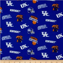 Collegiate Cotton Broadcloth University of Kentucky Royal Blue