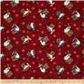 My Precious Quilt Snowman Allover  Red