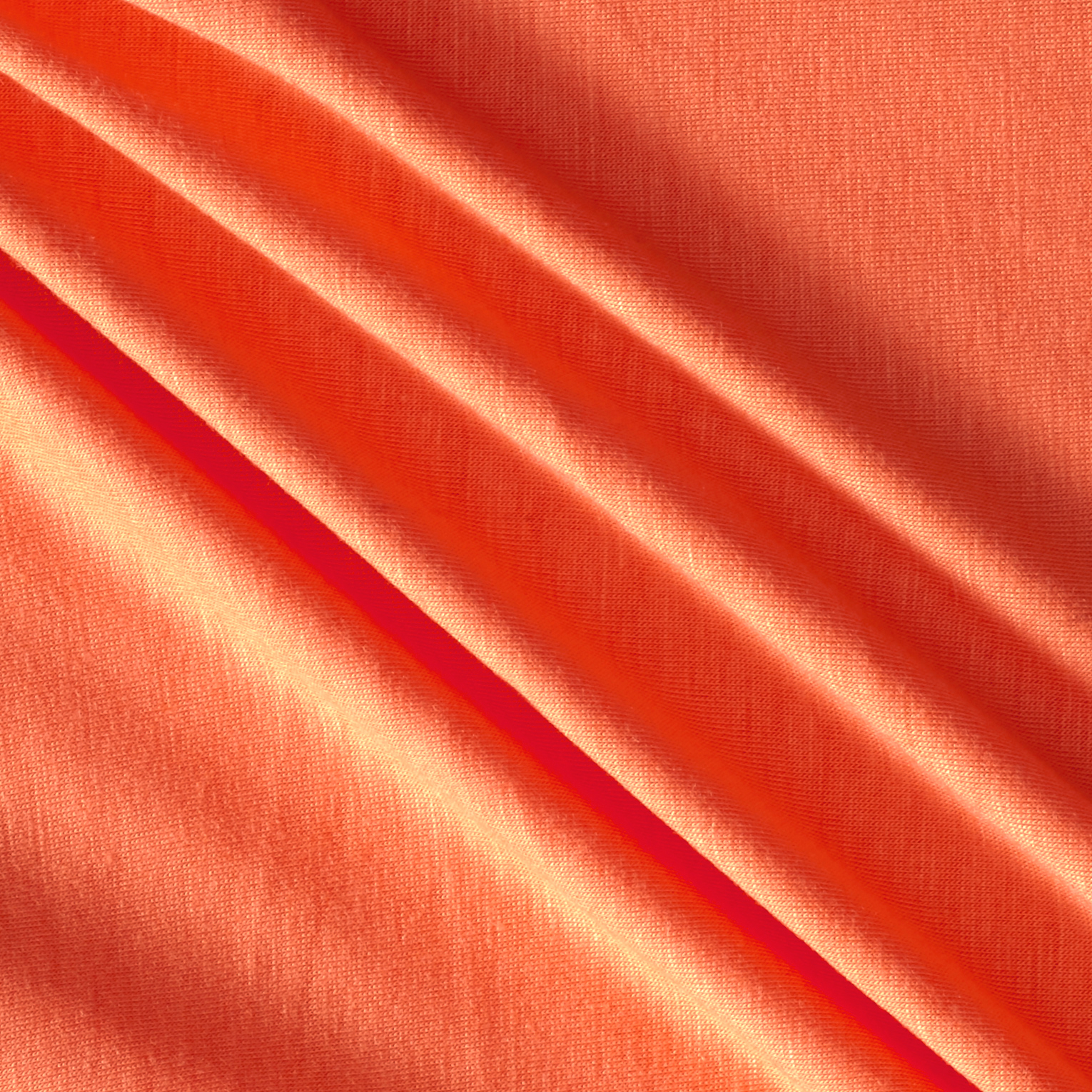 Jersey Knit Solid Orangina Fabric by Neiman in USA