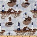 WinterFleece Lighthouses Fleece Multi