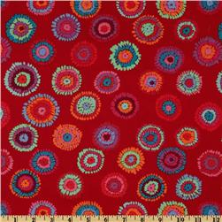 Kaffe Fassett Collective 2012 Plink Red Fabric