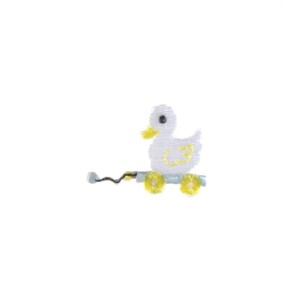 Toy Duck Applique White