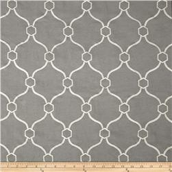 Regal Embroidered Vera Quatrefoil Pewter