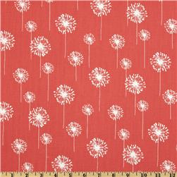 Premier Prints Small Dandelion Coral/White Fabric