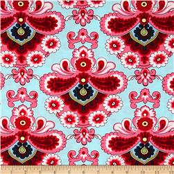 Amy Butler Belle French Wallpaper Duck Egg Fabric