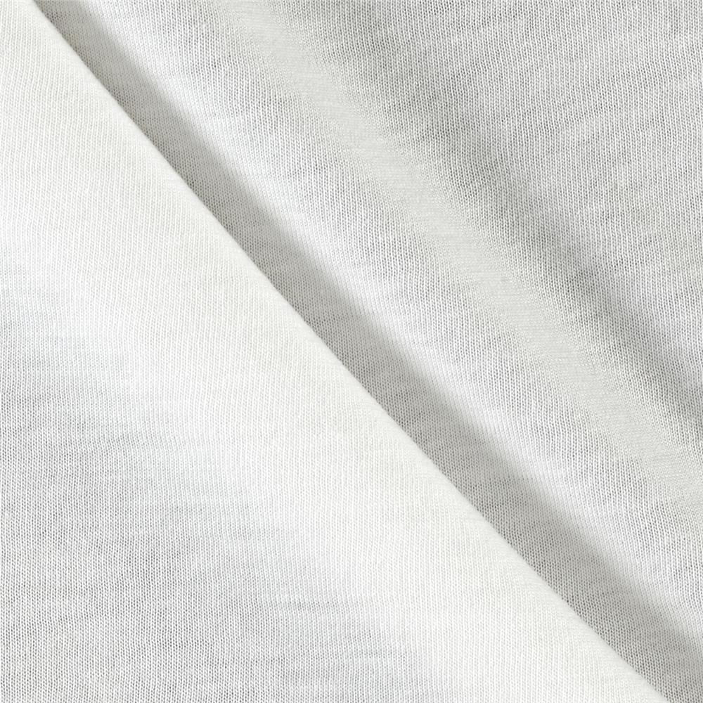 Cotton Viscose Jersey Knit White