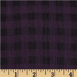 Crinkle Chiffon Check Purple