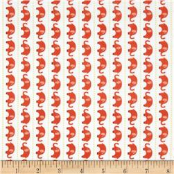 Riley Blake Oh Boy! Flannel Elephants Orange