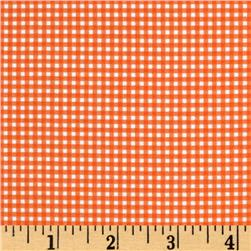 Michael Miller Mini Mikes Tiny Gingham Orange Fabric