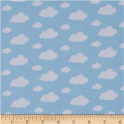 Dreamland Flannel Dream Clouds Dreamy Blue Fabric