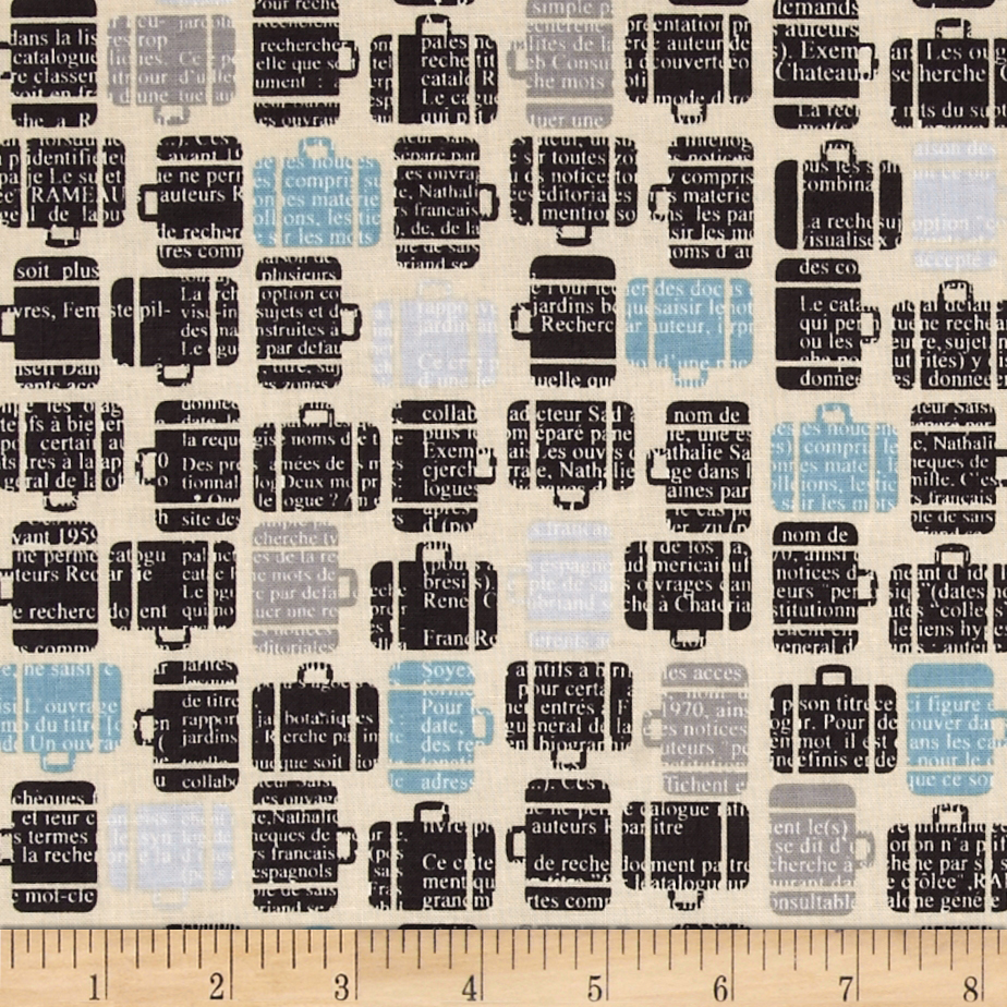 Riley Blake Detour Baggage Claim Cream Fabric
