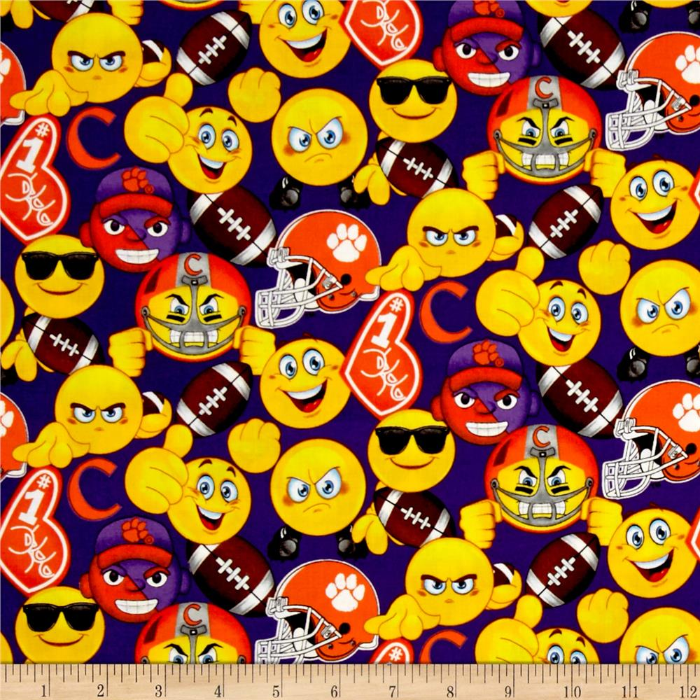 Collegiate Cotton Clemson University Emojis