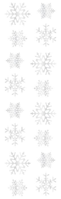 Mrs. Grossman's Stickers Reflections Snowflakes Pack