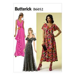 Butterick Misses' Dress and Sash Pattern B6052 Size A50