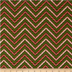 Holly Jolly Christmas Candy Cane Holiday Green