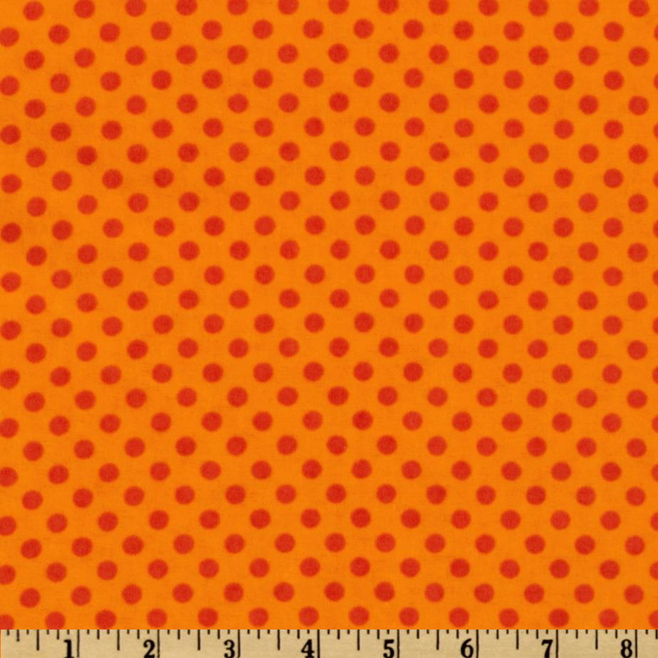Camelot Flannel Polka Dots Orange