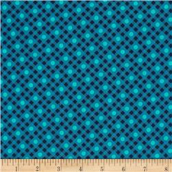 Vintage Made Modern Dot Check Turquoise